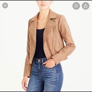 J. Crew Mercantile Faux Suede Moro Jacket
